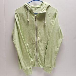 NIKE Lime Green Zip Up Hoodie